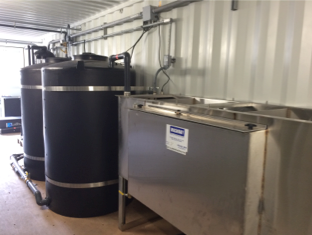 equipment room and oil water separator