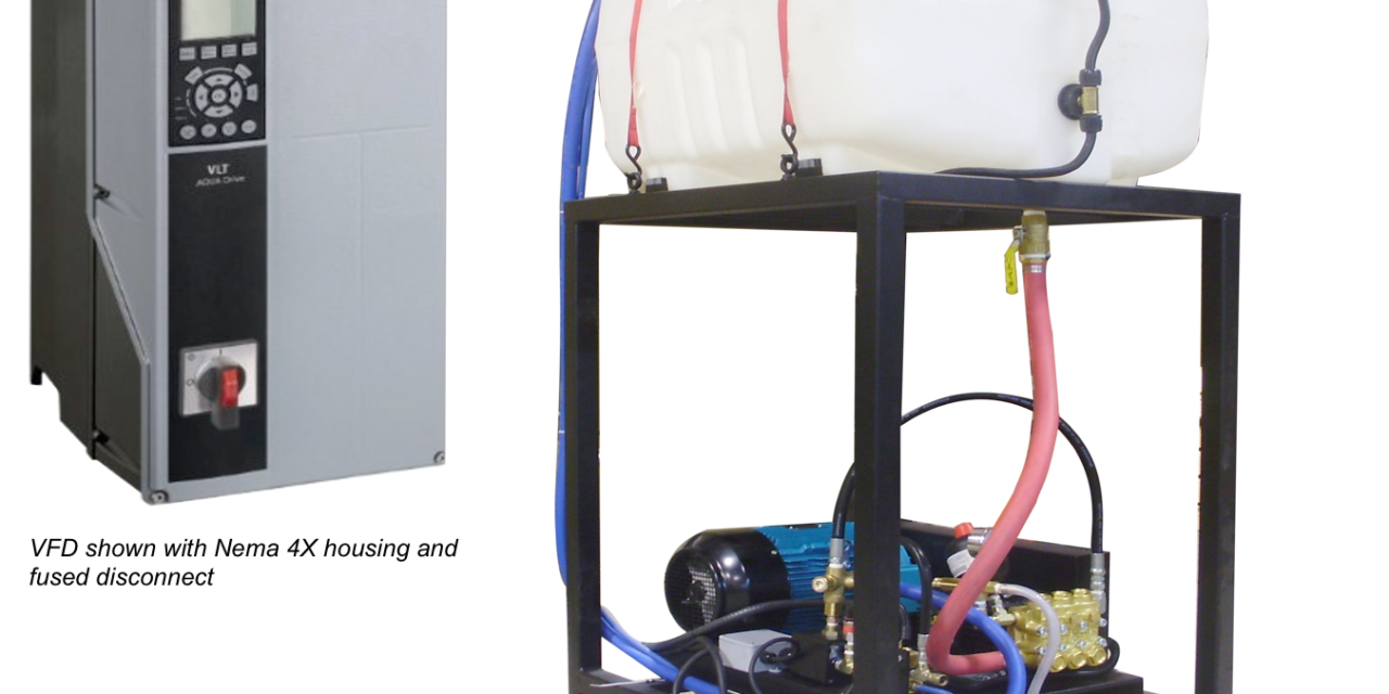 VFD Controlled Multi-gun high pressure cleaning systems
