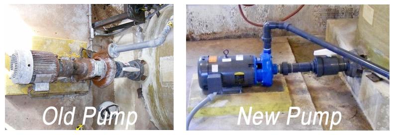 New Locomotive Wash Bay Pump